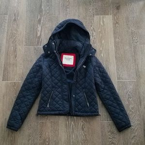 Abercrombie and Fitch Quilted Puffer Jacket